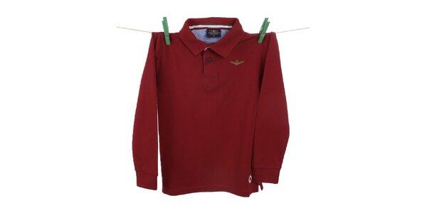 Detské červené polo tričko Aeronautica Militare