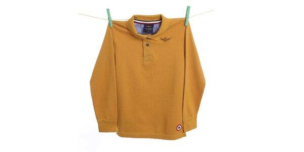 Detské žlté polo tričko Aeronautica Militare