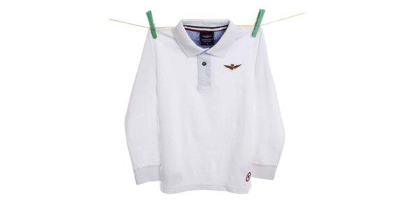Detské biele polo tričko Aeronautica Militare