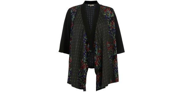 Dámske čierne vzorované kimono Uttam Boutique