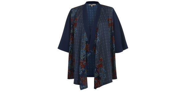 Dámske modré vzorované kimono Uttam Boutique