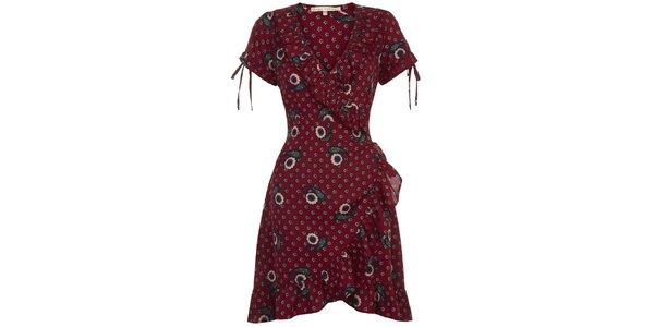 Dámske vínové zavinovacie šaty Uttam Boutique