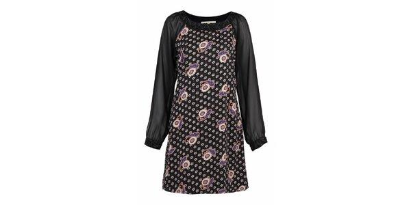 Dámske čierne vzorované šaty Uttam Boutique