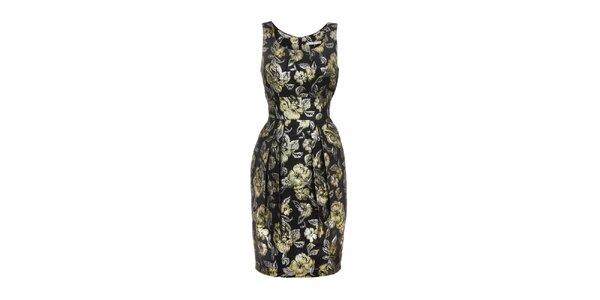 Dámske čierno-zlaté šaty Uttam Boutique fc7a459a5c