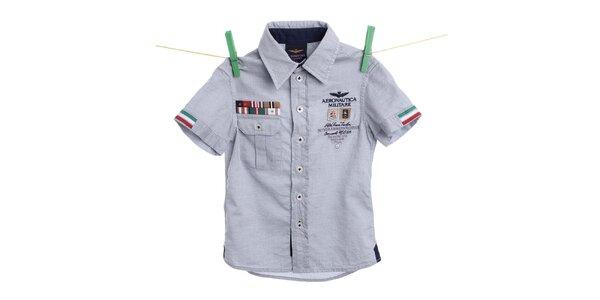 Detská svetlo modrá košeľa Aeronautica Militare