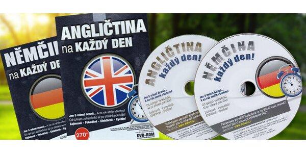Výukové DVD angličtiny alebo nemčiny na každý deň