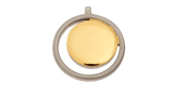 Dámsky gulatý titanový prívesok Danish Design so zlatým detailom