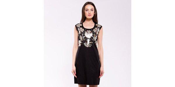 1aca455c40 Dámske čierno-strieborné spoločenské šaty Almatrichi