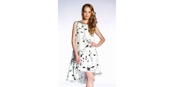 0ea6df25a01f Dámske černobiele šaty s potiskom Gene