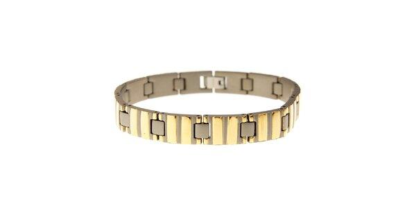 Dámsky zlatý titanový náramok Danish Design