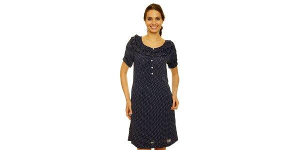 Dámske tmavo modré bodkované šaty Nice Things