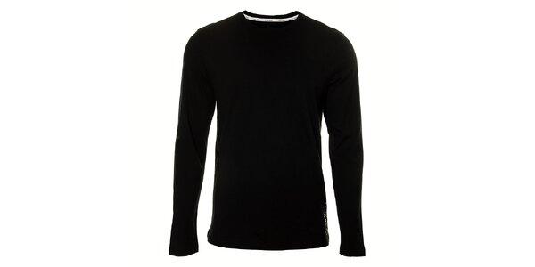 Pánske čierne podvliekacie tričko Calvin Klein s dlhým rukávom
