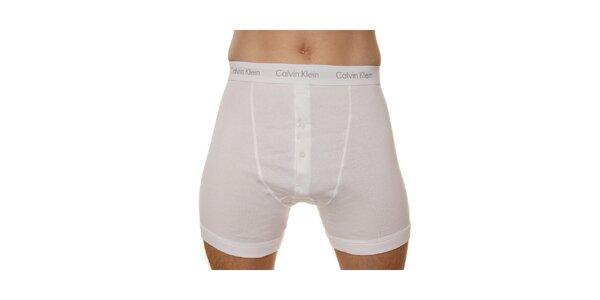 Balenie 2 ks pánskych boxeriek Calvin Klein s dlhými nohavicami - biele a čierne