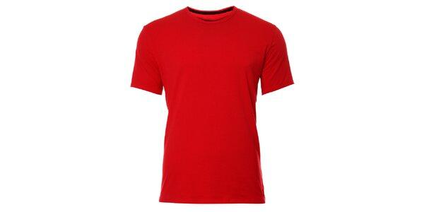 Pánske červené podvliekacie tričko Calvin Klein
