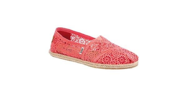 Dámske čipkované korálové topánočky Keddo