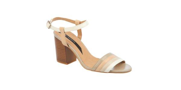 Dámske smotanové sandálky na opätku Elisabeth