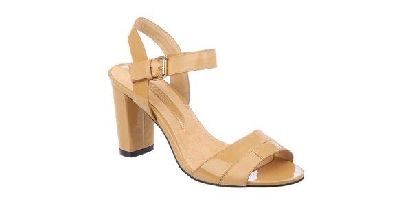 Dámske béžové sandálky Elisabeth s opätkom