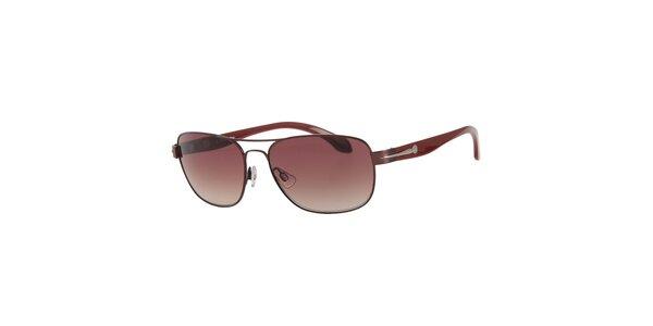 Pánske vínové slnečné okuliare Calvin Klein