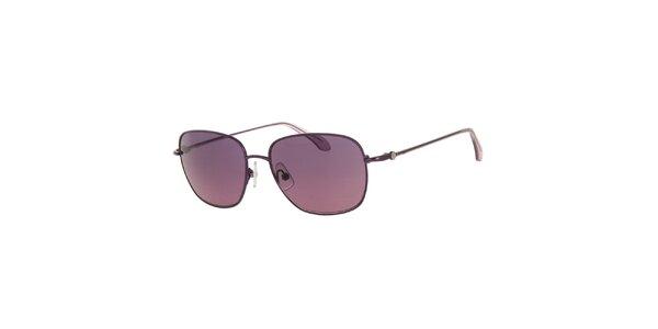 Dámske slnečné okuliare s šošovkami vo fialovom odtieni Calvin Klein