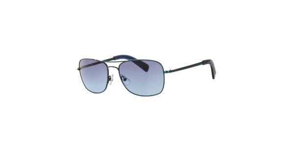 Pánske čierne hranaté slnečné okuliare Calvin Klein