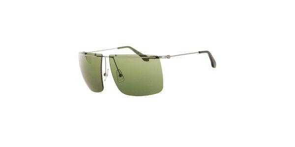 Pánske slnečné okuliare so zelenými sklíčkami Calvin Klein