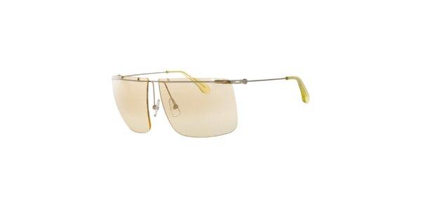 Pánske slnečné okuliare so svetlo ružovými sklíčkami Calvin Klein