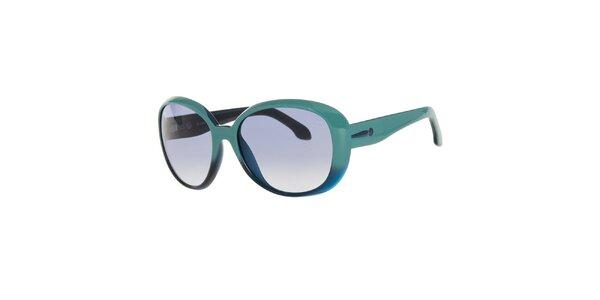 Dámske tyrkysovo-modré slnečné okuliare Calvin Klein
