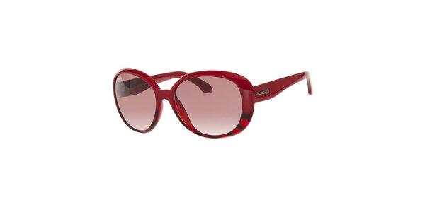Dámske červené slnečné okuliare so žihaním Calvin Klein