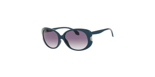 Dámske tyrkysovomodré oválné slnečné okuliare Calvin Klein