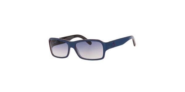 Dámske modré slnečné okuliare s modrými sklami Calvin Klein