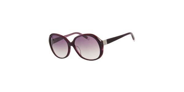 Dámske fialové guľaté slnečné okuliare Calvin Klein
