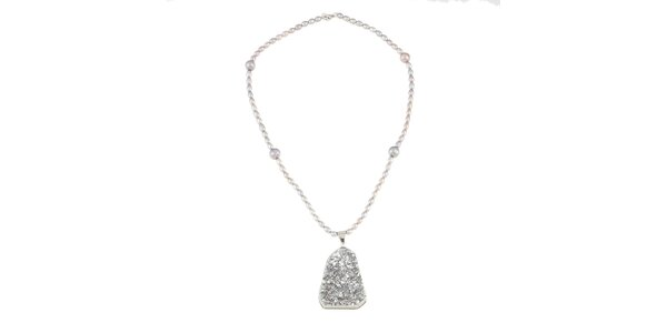 Dámsky perlový náhrdelník so strieborným kryštálom Orchira
