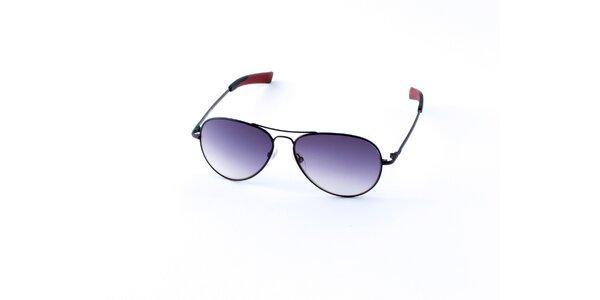 Pánske čierne slnečné okuliare Guess s fialovými sklami