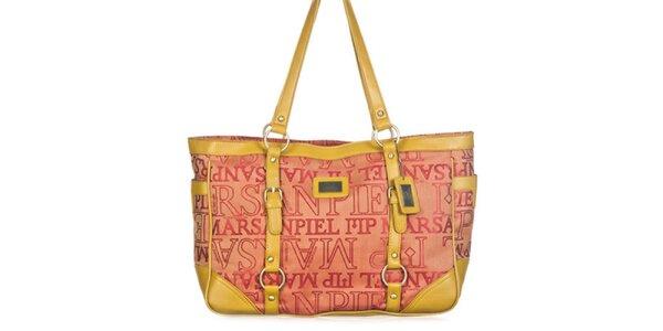 Dámska kabelka so žltými remienkami Marsanpiel