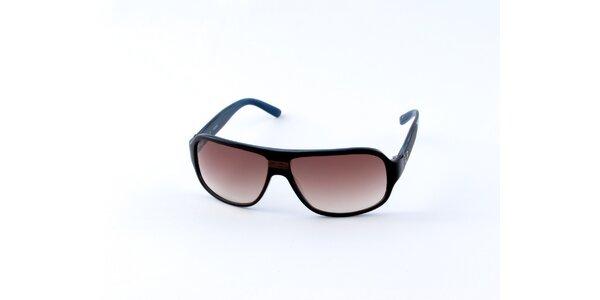 Pánske modro-čierne slnečné okuliare Guess