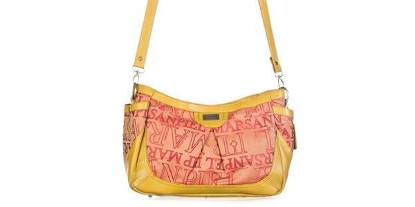 Dámska žltá kabelka s potlačou Marsanpiel