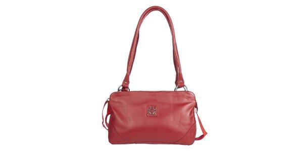 Dámska podlhovastá červená kabelka Marsanpiel