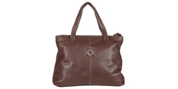Dámska hnedá kabelka z kože Marsanpiel