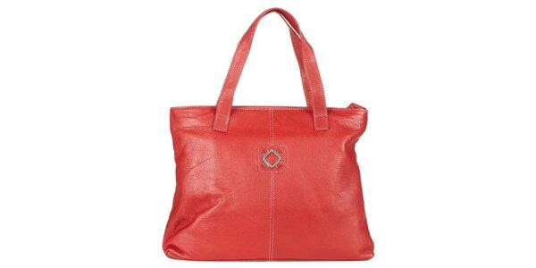 Dámska červená kabelka z kože Marsanpiel