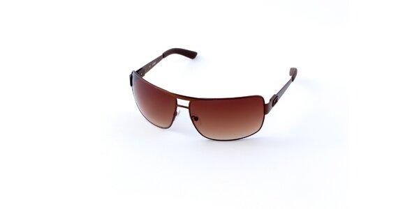 Pánske hnedé slnečné okuliare Guess