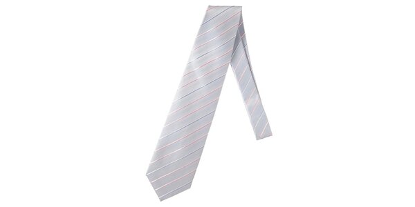 Pánska modrá kravata s prúžkom Marsanpiel
