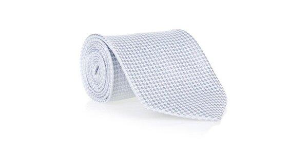 Pánska šedá kravata s jemným vzorom Marsanpiel