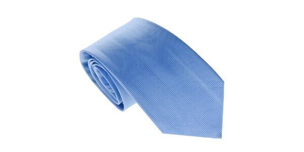 Pánska jemne kockovaná modrá kravata Marsanpiel