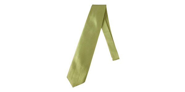 Pánska jemne kockovaná zelená kravata Marsanpiel