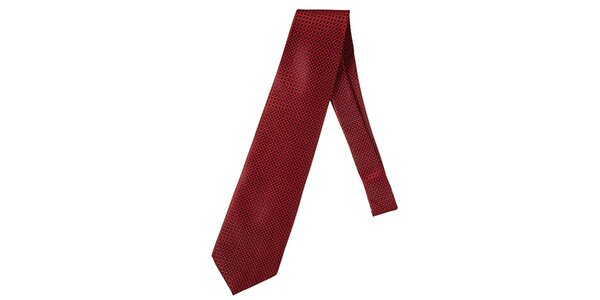 Pánska červená kravata so vzorom Marsanpiel