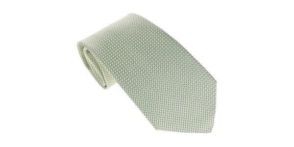 Pánska zelená kravata so vzorom Marsanpiel