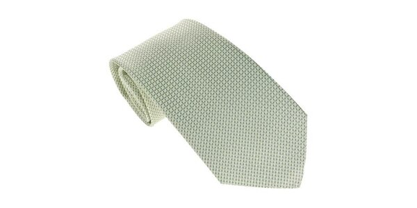 Pánska svetlo zelená kravata so vzorom Marsanpiel