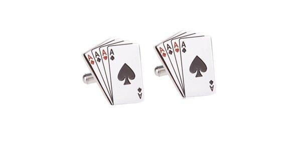 Pánske manžetové gombíky s kartovým motívom Marsanpiel