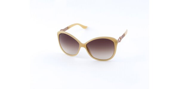Dámske vanilkovo žlté slnečné okuliare Guess