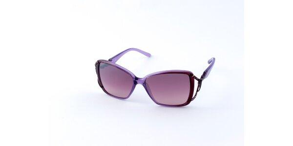 Dámske svetlo fialové slnečné okuliare Guess